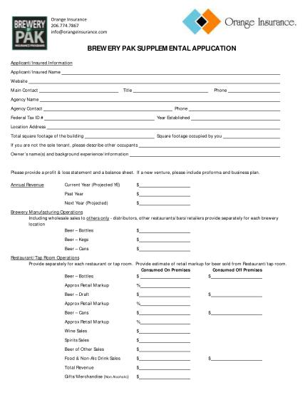100946020-brewery-pak-supplemental-application-orange-insurance