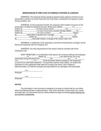 102849695-memorandum-of-employee-automobile-expense-day-translations