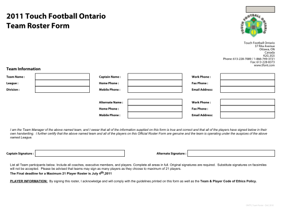 113039313-print-form-2011-touch-football-ontario-team-roster-form-touch-football-ontario-37-rita-avenue-ottawa-on-canada-k2g-2g5-phone-6132287089-18667493721-fax-6132288373-www