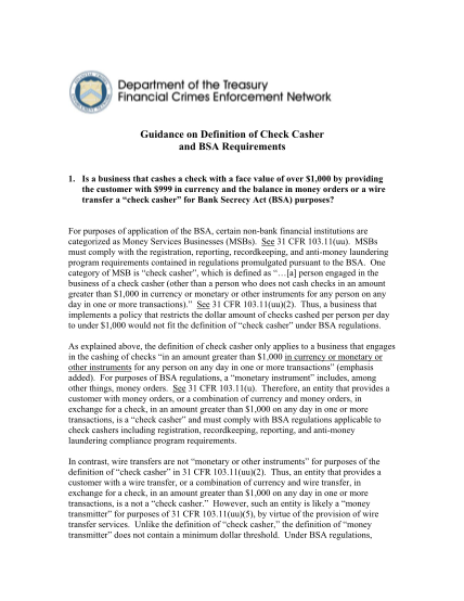 129134460-guidance-on-definition-of-check-casher-and-bsa-fincen-fincen