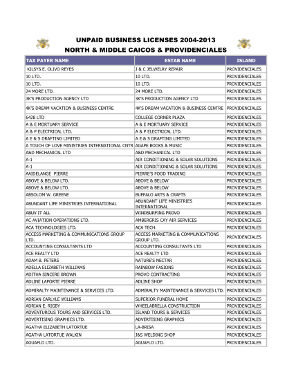 129435257-fillable-unpaid-business-licence-list-in-turks-and-caicos-form