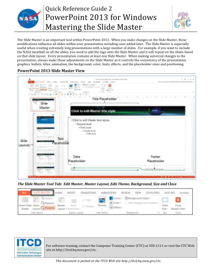 129677372-quick-reference-guide-2-powerpoint-2013-for-windows-mastering-the-slide-master-the-slide-master-is-an-important-tool-within-powerpoint-2013-hq-nasa