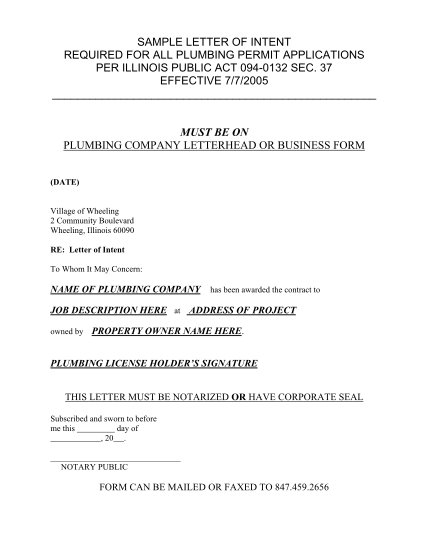 129794093-provider-letter-of-intent-to-insurance-company-sample