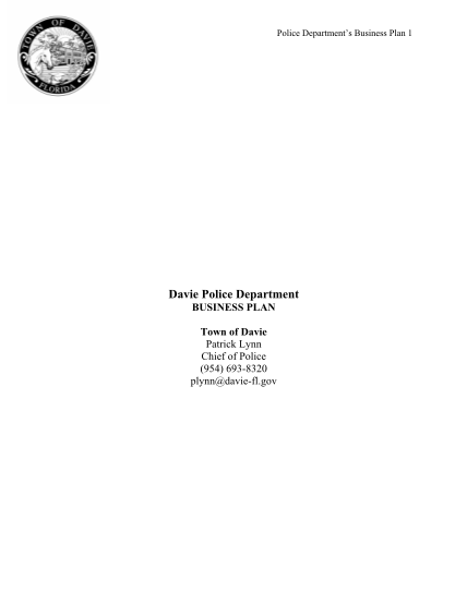 130141885-business-plan-template-for-a-town-department-the-town-of-davie-davie-fl