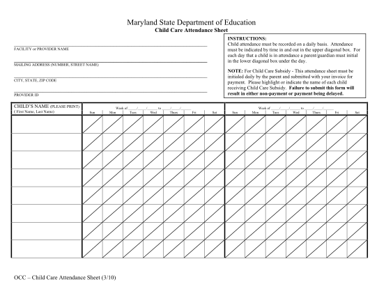 14260062-fillable-maryland-state-department-of-education-child-care-attendance-sheet-form-msde-maryland