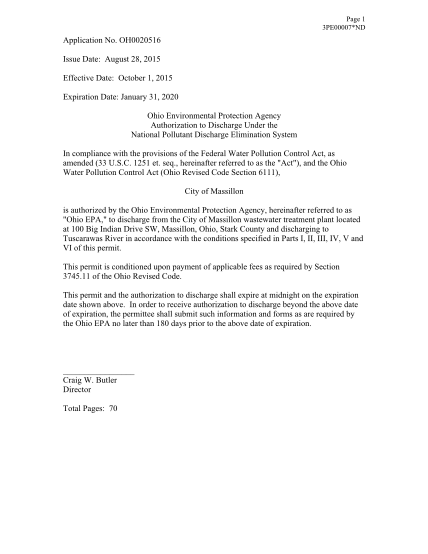14500832-application-no-oh0020516-issue-date-february-7-2011-effective-wwwapp-epa-ohio
