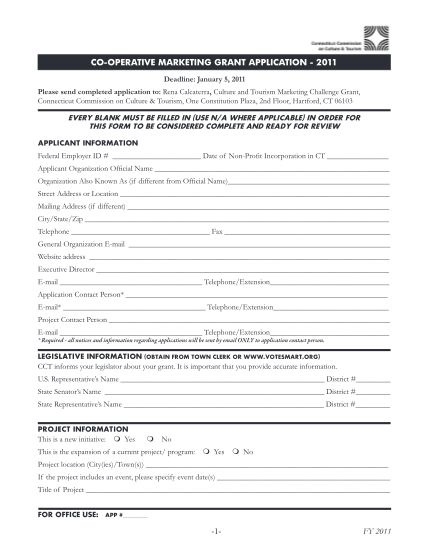 152447-coopmarketinggr-antapplication_-fy11_enabled-1--fy-2011-co-operative-marketing-grant-application--state-connecticut--ct