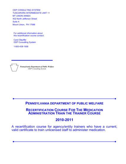 15525623-fillable-pa-med-administration-dpw-practicum-observer-form-dpw-state-pa