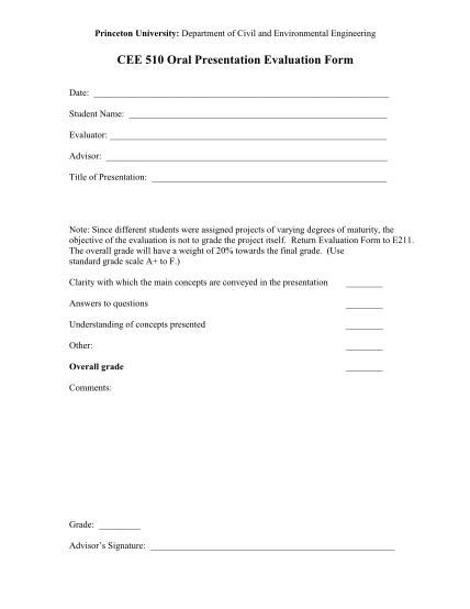 16138981-cee-510-oral-presentation-evaluation-form-princeton-university-princeton