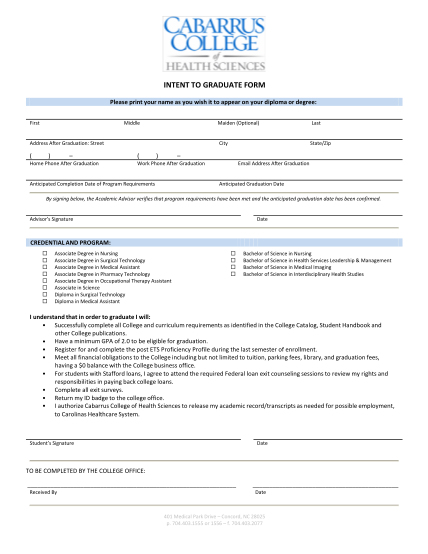 16622420-intent-to-graduate-form-cabarrus-college-of-health-sciences-cabarruscollege