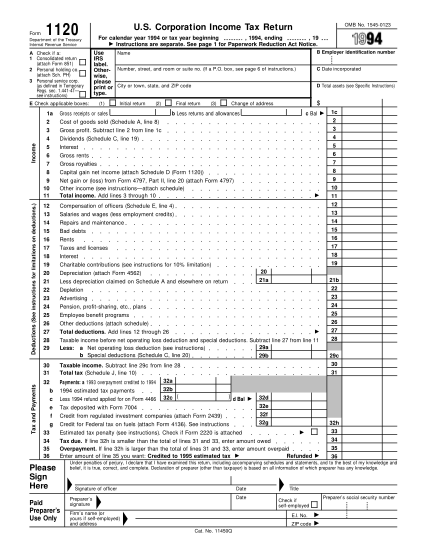 1671216-fillable-1994-1994-form-1120