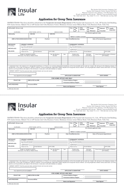 18615648-fillable-insular-life-application-for-group-term-insurance-form