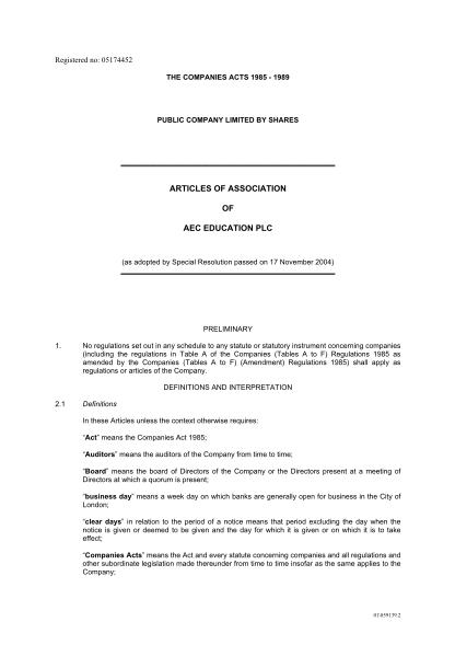 19699308-articles-of-association-aec-education-plc