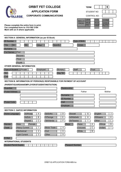 20374264-fillable-mankwe-nursing-college-form