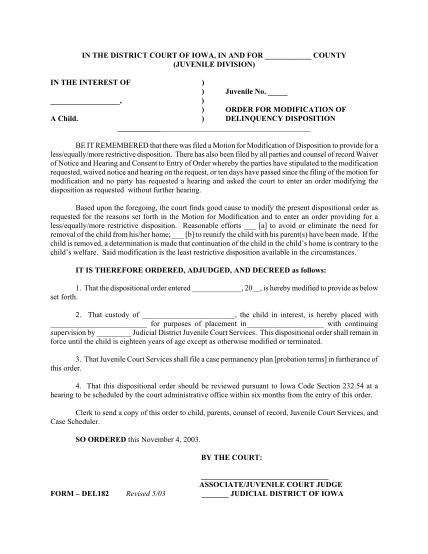 20889595-form-del182revised-503-judicial-district-of-iowa-law-drake