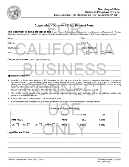 22397820-corporation-document-filing-request-form-california-secretary-sos-ca