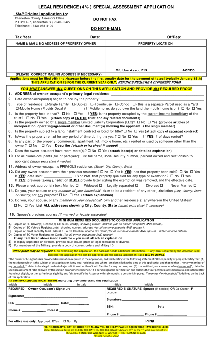 251717-fillable-when-do-i-have-to-submit-the-legal-residence-special-assessment-application-charleston-sc-form-charlestoncounty