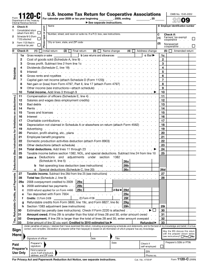 251854832-f1120c-2009pdf-a-1-2-3-tax-refundable-credits-and-payments-deductions-see-instructions-for-limitations-on-deductions-irs