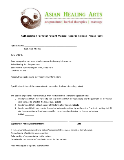 25200321-medical-records-release-form_v1pdf-medical-records-release-form-asian-healing-arts-amp-acupuncture