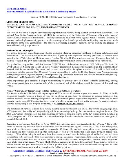 25204521-extended-deadline-2010-vt-search-summer-project-applicationdocm-med-uvm