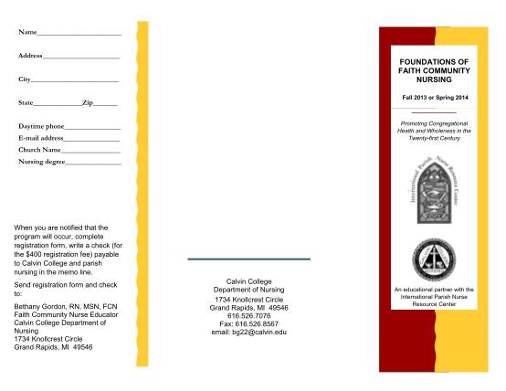 25681759-foundations-of-faith-community-nursing-calvin-college-calvin