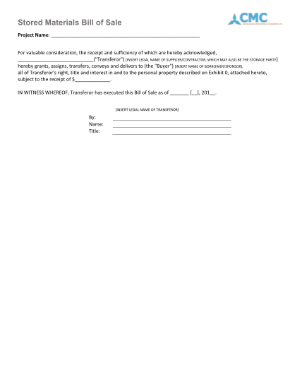 259108113-form-h2-stored-materials-bill-of-sale-cmc