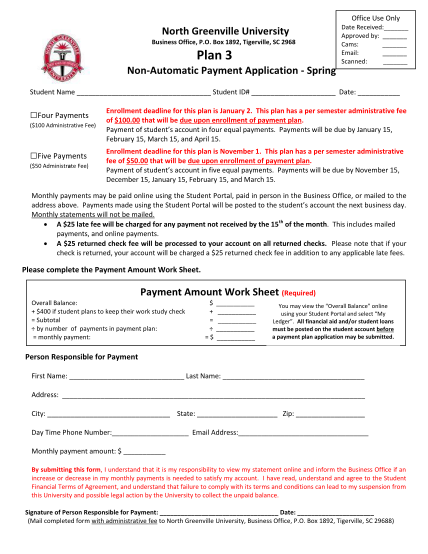 260788814-box-1892-tigerville-sc-2968-plan-3-date-received-approved-by-cams-email-scanned-nonautomatic-payment-application-spring-student-name-student-id-date-four-payments-100-administrative-fee-five-payments-50-administrate-fee-ngu