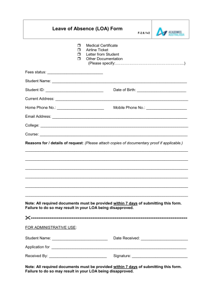 266934830-f-261-aca-leave-of-absence_v2pdf-leave-of-absence-loa-form-academies-australasia