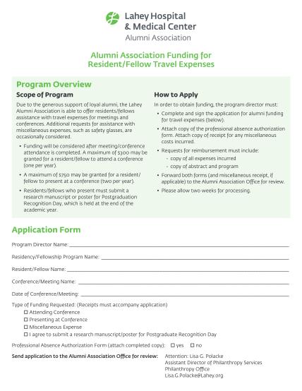 267223769-alumni-association-funding-for-residentfellow-travel-expenses-lahey