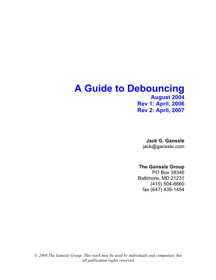 26771220-a-guide-to-debouncing-by-jack-g-ganssle-cseweb-ucsd