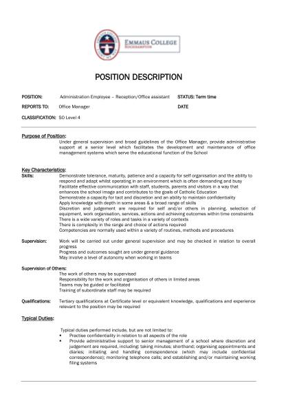 269984141-positiondescription-administrationassistant1pdf-cover-letter-magic-trade-secrets-of-professional-resumepdf