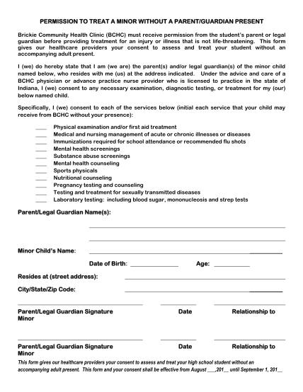 270660823-v2-brickie-clinic-permission-to-treat-minor-wo-parent-presentpdf-permission-to-treat-a-minor-without-a-parent-bb