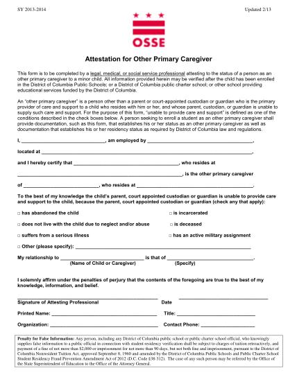 27514998-attestation-for-other-primary-caregiver-osse-osse-dc