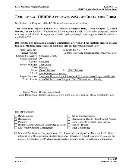 290786433-local-assistance-program-guidelines-exhibit-6a-hbrrp-applicationscope-definition-form-exhibit-6a-hbrrp-applicationscope-definition-form-see-section-6