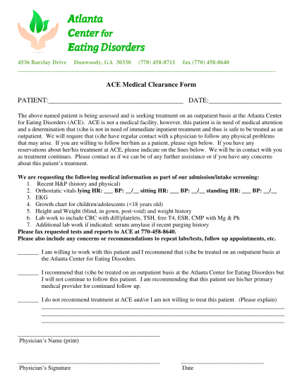 293350828-ace_medical_clearance_formpdf-ace-medical-clearance-form-atlanta-center-for-eating-eatingdisorders