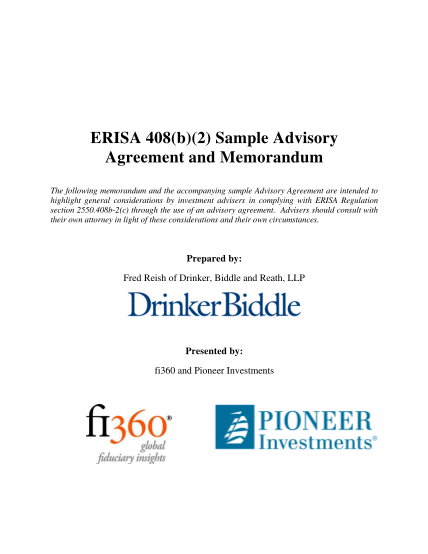 310001673-erisa-408b2-sample-advisory-agreement-and-memorandum