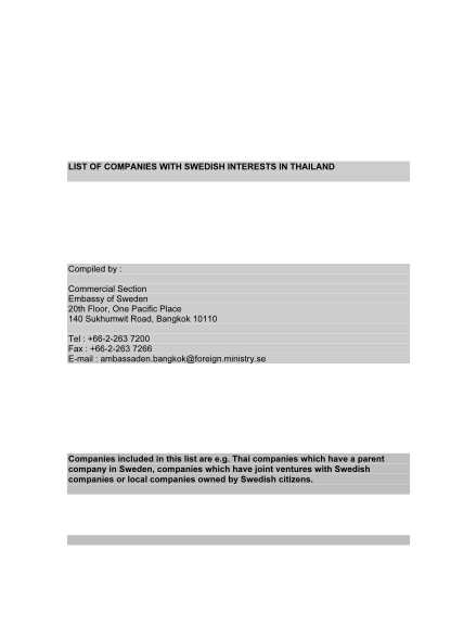 31055426-list-of-companies-with-swedish-interests-in-thailand-compiled-by-commercial-section-embassy-of-sweden-20th-floor-one-pacific-place-140-sukhumwit-road-bangkok-10110-tel-662263-7200-fax-662263-7266-email-ambassaden
