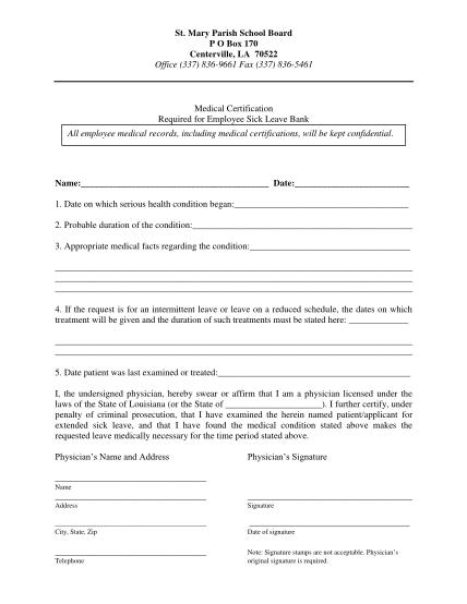 31799093-sick20bank20applicationpdf-sick-leave-bank-medical-certification-st-mary-parish-schools