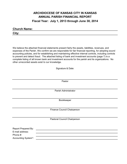 319153293-archdiocese-of-kansas-city-in-kansas-annual-parish-financial-report-fiscal-year-july-1-2013-through-june-30-2014-church-name-city-we-believe-the-attached-financial-statements-present-fairly-the-assets-liabilities-revenues-and