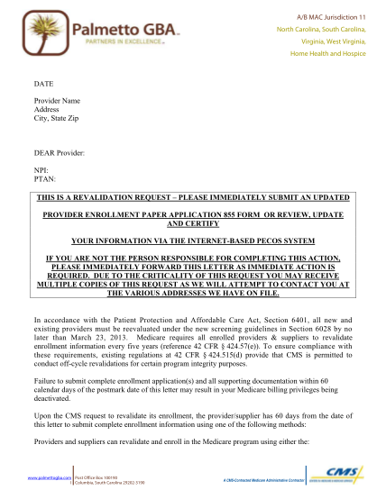 33420117-j11-part-b-revalidation-letter-template-palmetto-gba