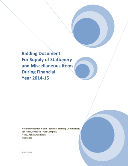 334813150-bidding-document-for-supply-of-stationery-and-miscellaneous-items-for-during-financial-year-2014-15-national-vocational-and-technical-training-commission-5th-floor