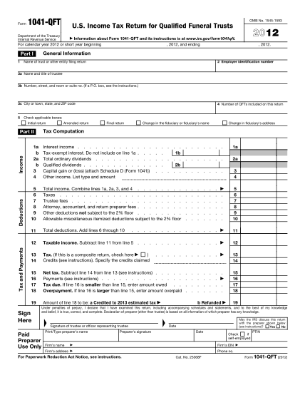 33834871-tax2012irs_f1041qft_20121127pdf-name-of-trust-or-other-entity-filing-return