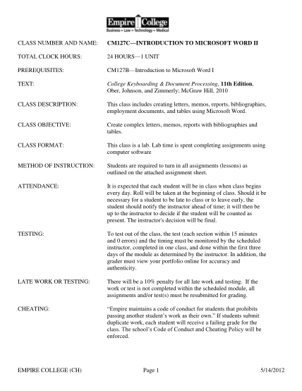 34941960-class-number-and-name-cm127c-introduction-to-microsoft-word-ii