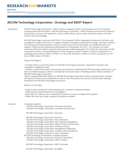 35110191-aecom-technology-corporation-strategy-and-swot-report
