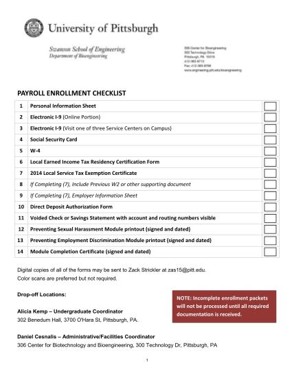 364155271-payroll-enrollment-checklist-engineering-pitt