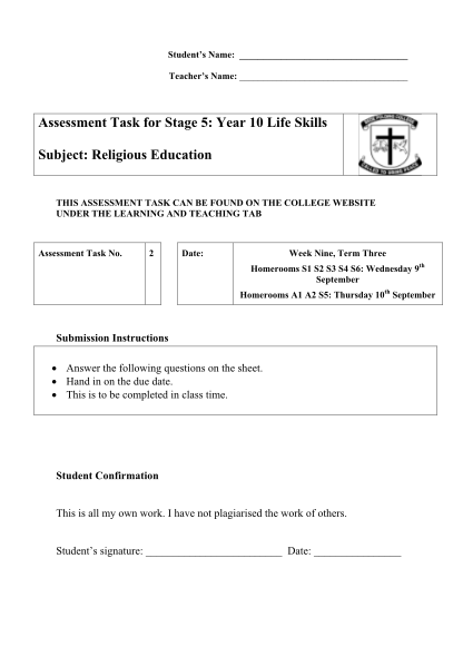 365315274-assessment-task-for-stage-5-year-10-life-skills-subject-religious