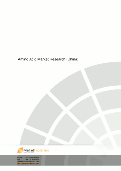 36824970-amino-acid-market-research-china-market-research-report