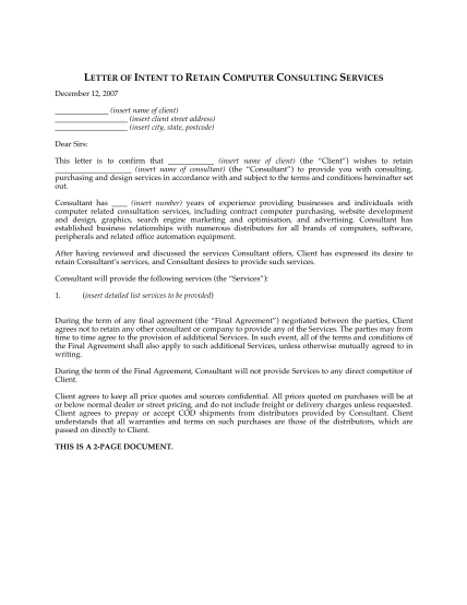 36842825-fillable-letter-of-intent-computer-consulting-form