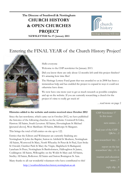 371554585-project-newsletter-january-2013-southwell-amp-nottingham-church-nottsopenchurches-org