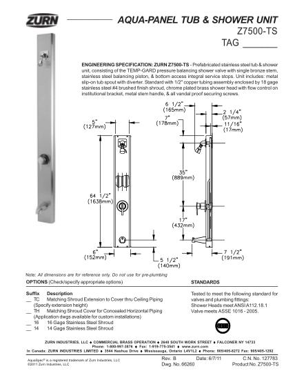 37207717-aqua-panel-tub-amp-shower-unit-z7500-ts-tag-zurn